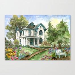 Garden House Canvas Print