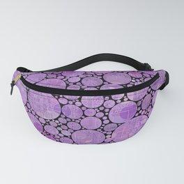 Pantone Purple Circular Pattern Decor Fanny Pack