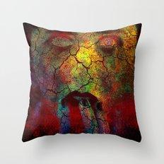 Crack of a woman Throw Pillow