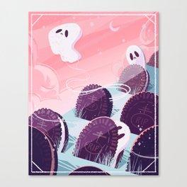 Oreo Ghost Canvas Print