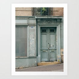 Paris Door Art Print