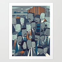 the wire Art Prints featuring The Wire by Ale Giorgini