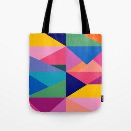 Geometric Color Block Tote Bag