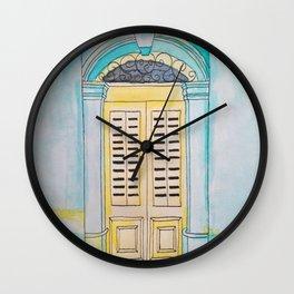 Malta door #1 Wall Clock