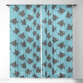 Angry Animals - Piranha Sheer Curtain