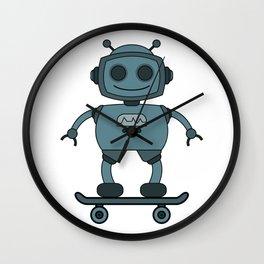 robot skater Wall Clock