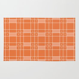 Orange Squares and Dots Rug