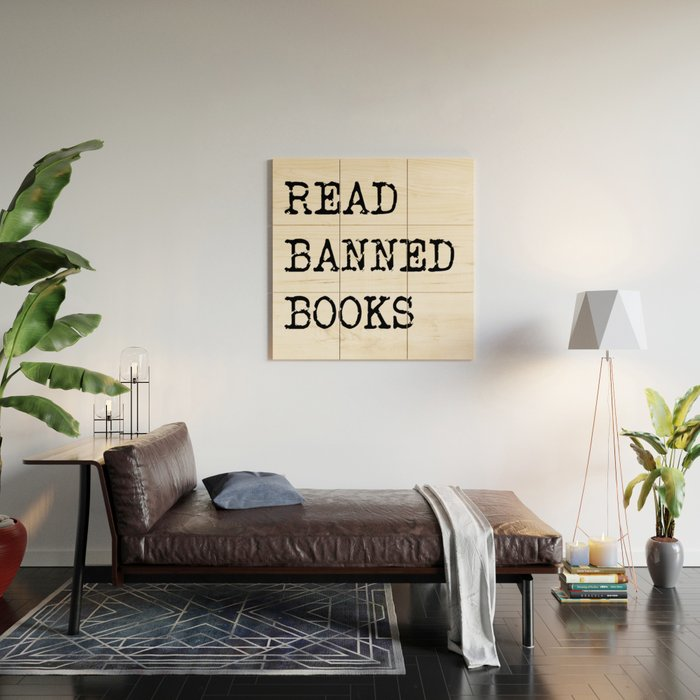 Read Banned Books Wood Wall Art
