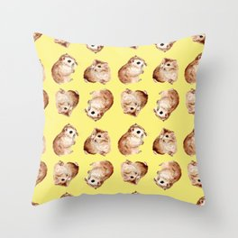 Coco the Hamster Throw Pillow