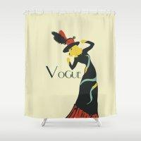 vogue Shower Curtains featuring Vogue by Laurel Natale