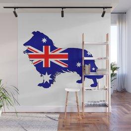 Australian Flag - Border Collie Wall Mural