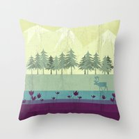 wildlife Throw Pillows featuring Wildlife by Kakel