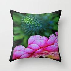 Seduction in a garden Throw Pillow