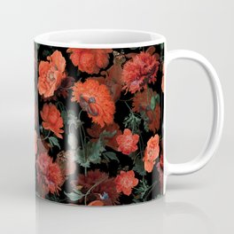 Jan Davidsz. de Heem Vintage Summer Poppies Flowers Night Botanical Garden Coffee Mug
