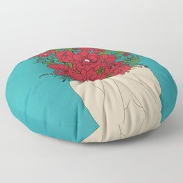Blooming Red Floor Pillow