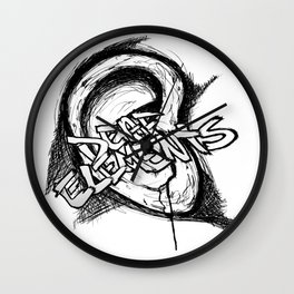 Deaf Elements; Ear Wall Clock