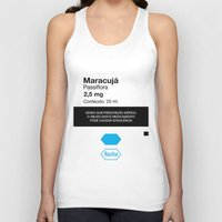 posters Tank Tops featuring Kitchen Posters - Rivotril/Maracuja by mvaladao