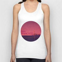 san francisco Tank Tops featuring San Francisco by WyattDesign