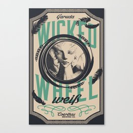 Wicked Wheel Weiß    FFXIV Canvas Print