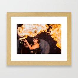 Feel The Burn Framed Art Print