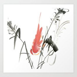 Bird 4- Chinese Shui-mo (水墨) Art Print