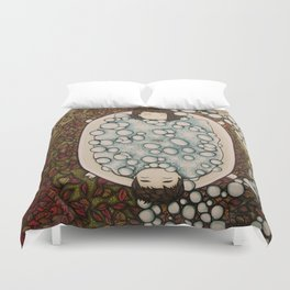 spanning seasons Duvet Cover
