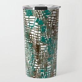 snake skin textute pattern metal Travel Mug