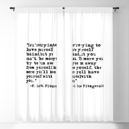 Trying to leave yourself behind - Fitzgerald quote Blackout Curtain