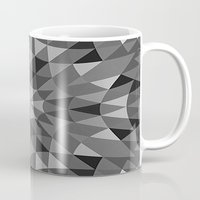 gray pattern Mugs featuring Gray Pattern by 2sweet4words Designs