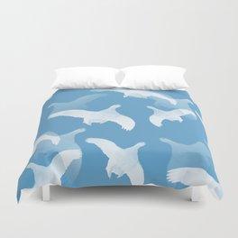 White Birds Against The Blue Sky #decor #society6 #homedecor Duvet Cover