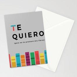 Te quiero (pero no te prestaré mis libros) Stationery Cards