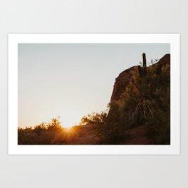 Desert Sun. Art Print