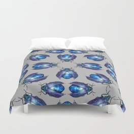 Black Opal Beetle Duvet Cover