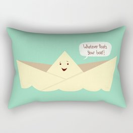 Happy boat Rectangular Pillow