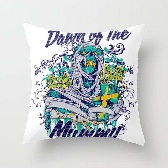 Dawn of the mummy Throw Pillow