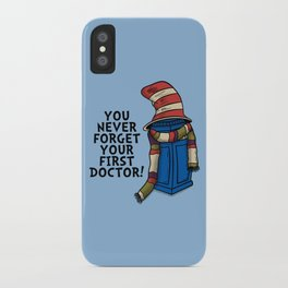 Blue Box in the Hat iPhone Case