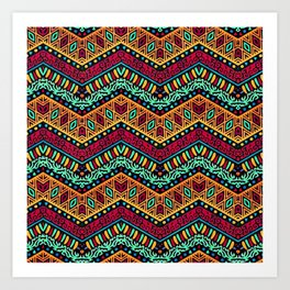 African Style No1 Art Print