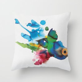 COLORFUL FISH 2 Throw Pillow