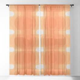 Echoes - Creamsicle Sheer Curtain