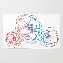 Rainbow Poppies Rug