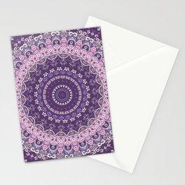 Purple Lace Mandala Stationery Cards