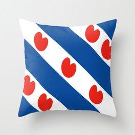 Frisian Friesland region netherlands country flag Dutch province Throw Pillow