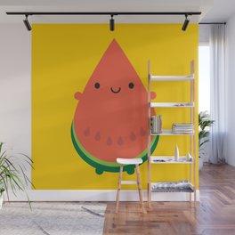 Kawaii Watermelon Wall Mural