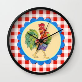 Rise and Shine Rooster Wall Clock