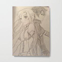 Sword Art Print Metal Print