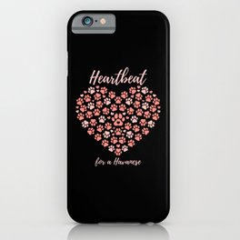 HAVANESE HEART DOG GIFT QUOTE LOVE iPhone Case