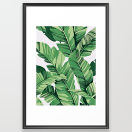 Tropical banana leaves V Framed Art Print