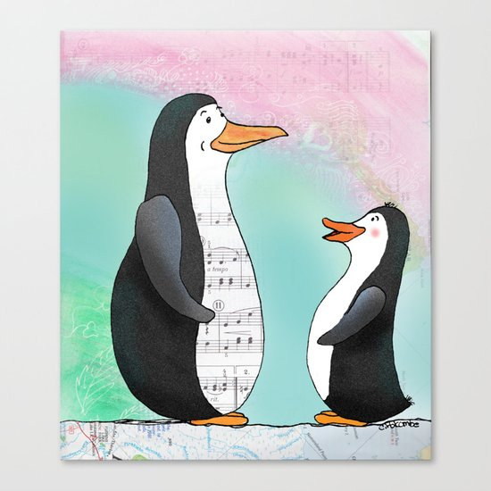 Singing Lesson Canvas Print