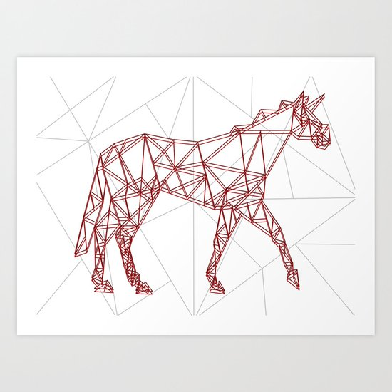 Wired Unicorn Art Print
