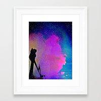 twilight Framed Art Prints featuring Twilight by Angela Pesic